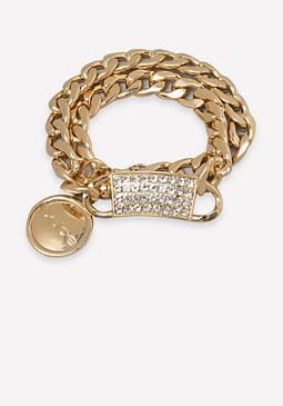 bebe Logo Chainlink Bracelet