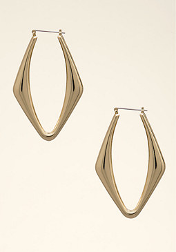 bebe Angular Hoop Earrings