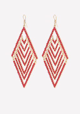 bebe Diamond Shaped Earrings