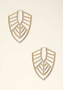 bebe Crystal Tribal Earrings