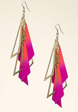 bebe Enamel Bar Earrings