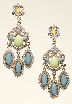 bebe Neon Triple Drop Earrings