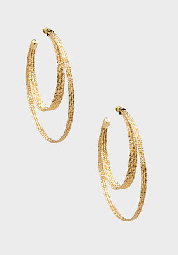 bebe Half Moon Hoop Earrings
