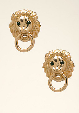 bebe Lion Door Knocker Earrings