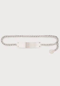 bebe Metal Plate Chain Belt