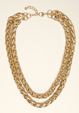 Double Row Chain Necklace at bebe