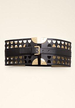 bebe Cutout Corset Belt