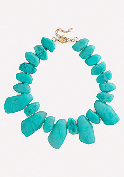 bebe Resin Stone Necklace