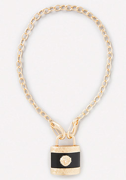 bebe Lion Padlock Necklace