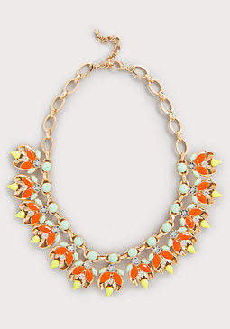 bebe Neon Pop Stone Necklace