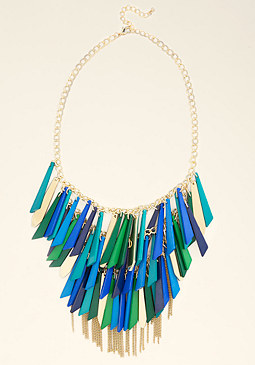 bebe Enamel Fringe Necklace