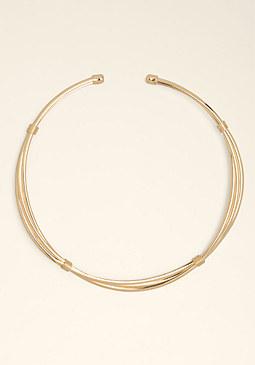 bebe Twist Collar Necklace