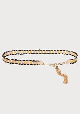 bebe Woven Chain Belt