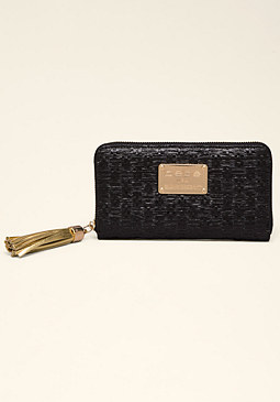 bebe Carrie Straw Wallet