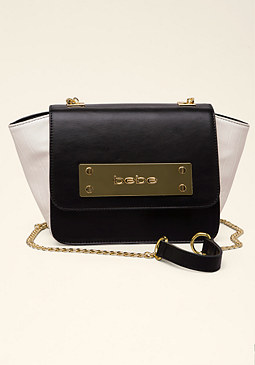 bebe Lulu Croc Crossbody Bag