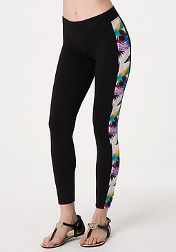 bebe Print Panel Leggings