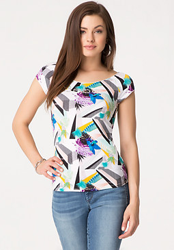 bebe Palm Beach Merrow Edge Tee