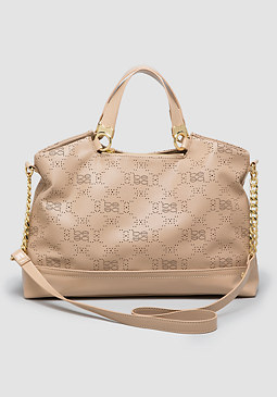 bebe Selma Perforated Satchel