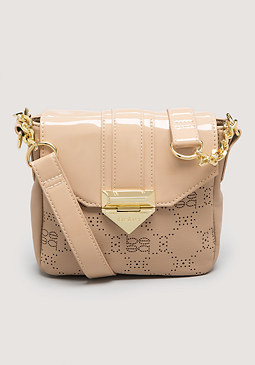 bebe Perforated Crossbody Bag