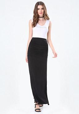 bebe V-Neck Maxi Dress