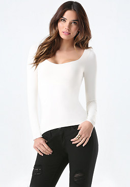 bebe Sweetheart Neck Top