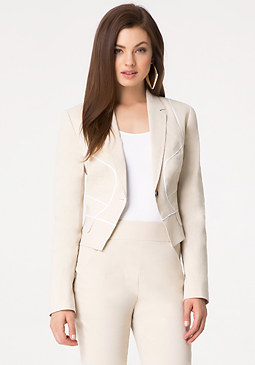 bebe Leigh Linen Jacket