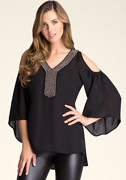 bebe Cold Shoulder Tunic