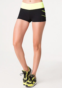 bebe Tiger Slash Workout Shorts