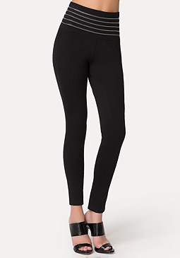 bebe Petite High Waist Leggings