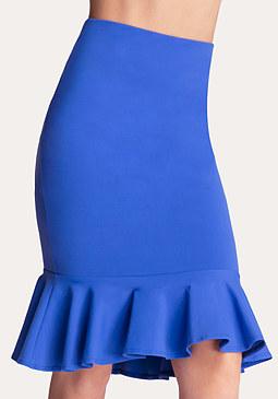 bebe Petite Flounce Midi Skirt