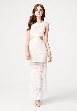 bebe Cutout Maxi Dress
