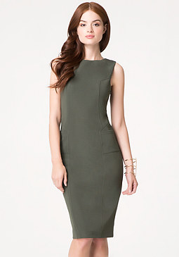 bebe Layne Textured Midi Dress