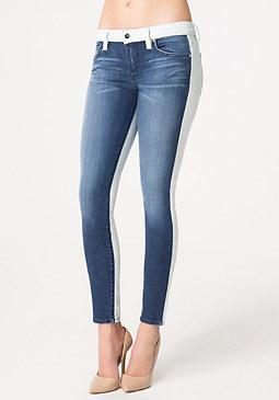 bebe 2 Tone Skinny Jeans