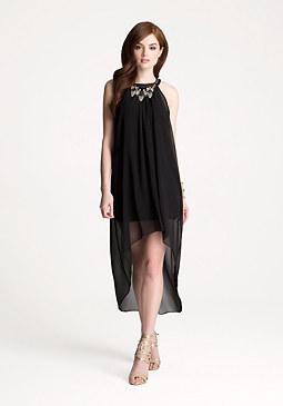 bebe Petite Overlay Dress