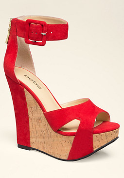 bebe Sanam Cork Wedges