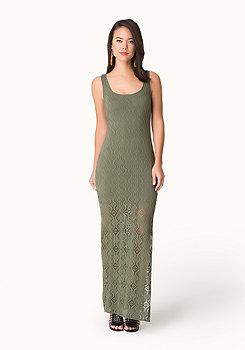 bebe Pointelle Jersey Maxi Dress