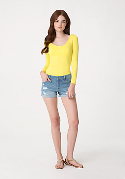 bebe Light Boyfriend Shorts