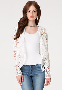 bebe Crochet Lace Jacket