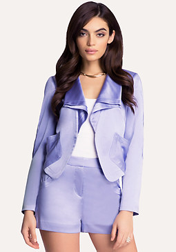 bebe Textured Satin Jacket