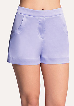 bebe Textured Satin Shorts