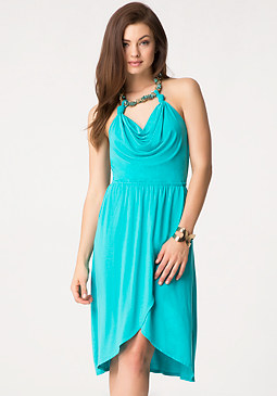 Necklace Halter Dress at bebe