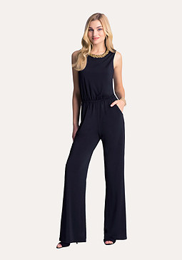 bebe Chain Neck Jumpsuit