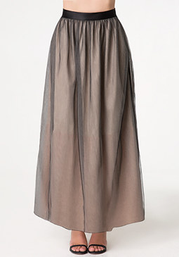 bebe Layered Tulle Maxi Skirt