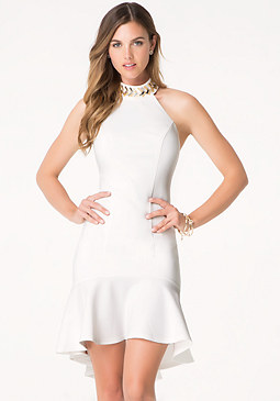 bebe Embellished Flounce Dress
