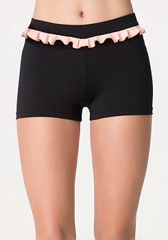 bebe Colorblock Ruffle Shorts
