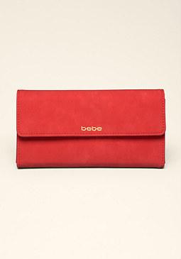 bebe Logo Checkbook Wallet