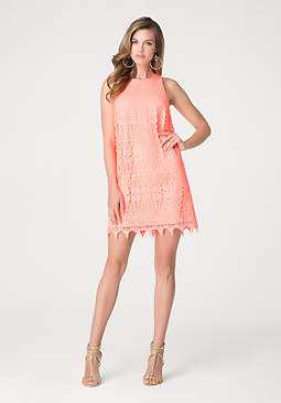 bebe Lace Shift Dress