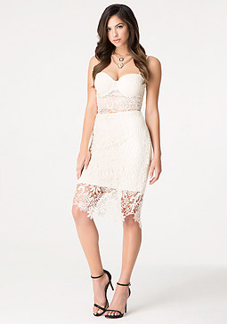 bebe Jade Bobbin Lace Skirt