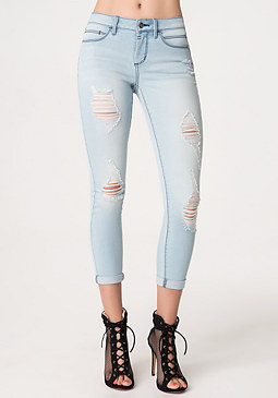 Heartbreaker Crop Jeans at bebe