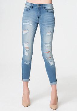 bebe Heartbreaker Crop Jeans